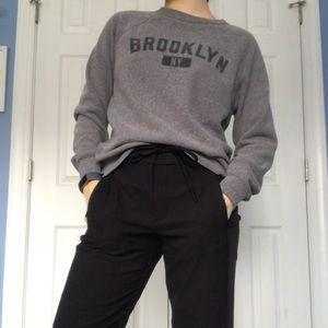 Grey Brooklyn, NY Pullover Sweatshirt